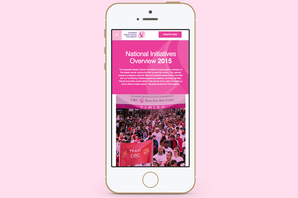 Canadian Breast Cancer Foundation website